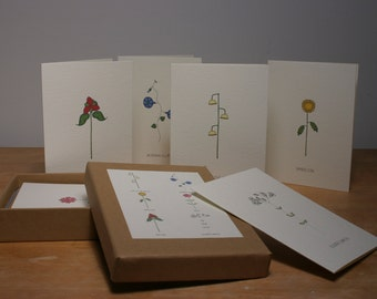 a different box of 6 cards of flowers we all love.