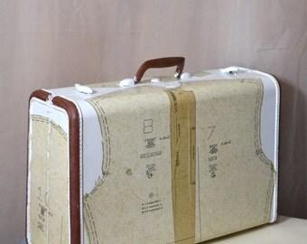 Upcycled Luggage Samsonite Storage Suitcase Valise