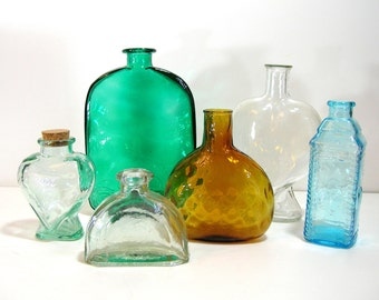Multi Colored Glass Bottle Collection, Instant Collection, Home Decor