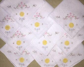 Lot of 10 Vintage Handkerchiefs - Hankies