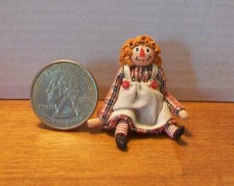 Miniature Raggedy Ann Doll
