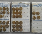 Vintage Numbered Brass Screen Tacks by Moore Push-Pin Co.