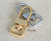 NEW! Clips for Bag/Luggage Tags - Two Sizes - Gold or Nickel - Attachable #16LG - Handbag Accessory