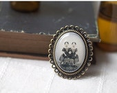Victorian Cameo Brooch - Vintage style brooch - Ghost Siamese Twins brooch - Victorian brooch - Retro broosh - Gothic broosh - (BH015)