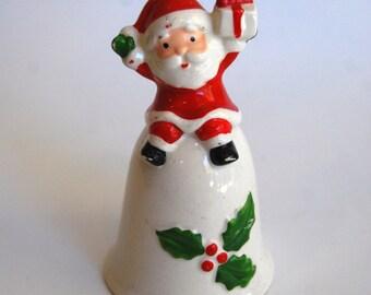 Vintage Santa Bell, Made in Japan