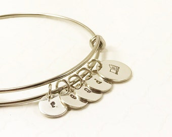 Book Lover Bracelet - Geek Pride Jewelry - Reader Gift - Writer Necklace - Nerd Girl - Personalized Bracelet - Hand Stamped Bangle