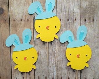 1 Dozen Easter Chick Cupcake Picks- Easter,first birthday