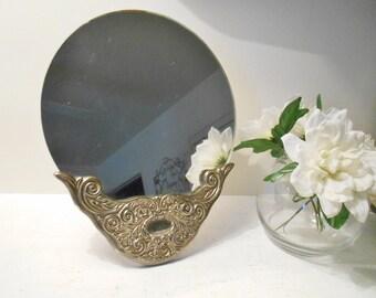Vintage Silver Base Round Mirror