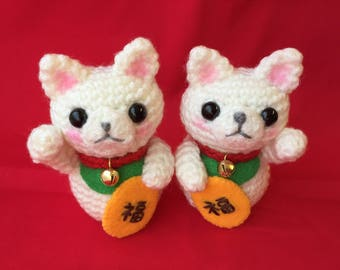 Amigurumi Maneki-Neko - The Right Paw Up or The Left Paw Up