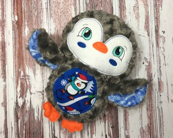 Penguin Softie / Christmas Softie / Personalized Penguin / Christmas Penguin / Stuffed Penguin / Christmas Gift / Ready to Ship