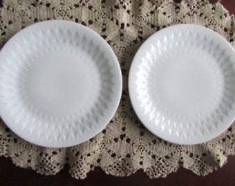 Signed A. Vignaud Limoges - two beautifully textured white dishes