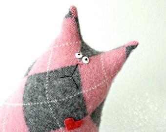 Stuffed Animal Cat Doll - Stuffed Toy Cat - Pink Cashmere Cat - Plush Cat - Crazy Cat Lady Gift - Pink Cat - Soft Cat Doll - Soft Plush Toy