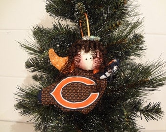 Chicago Bears fabric angel ornament #1