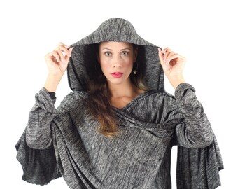 FREE DELIVERY! Ponchos- maternity clothes - BLACK knitting shawl wrap cardigan for women - plus size - hand made - maternity cardigan
