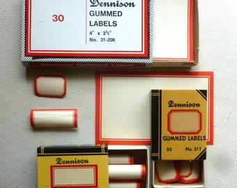 Three Boxes Vintage Dennison Labels