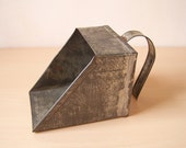 """Vintage Small 4"""" Square Tin Scoop"""