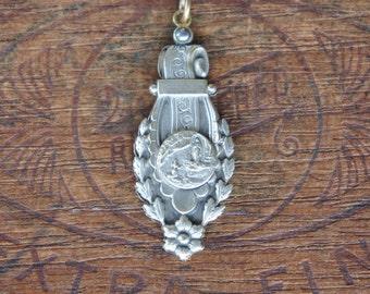Antique French Lourdes Souvenir Slide Medallion