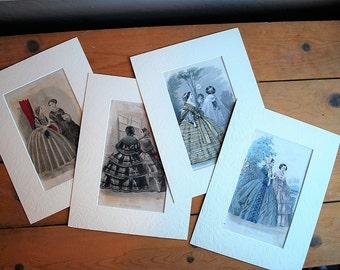 Vintage Fashion Prints, Vintage French Prints, French Fashion Ads, Vintage Lithographs, Vintage Print Ad, Watercolor Lithographs
