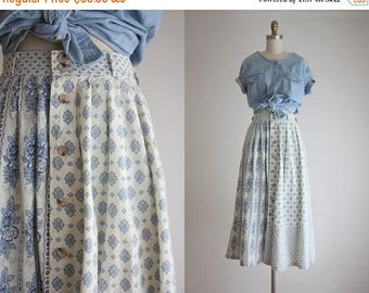 25% SALE folk print midi skirt