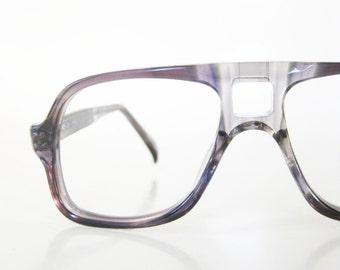 1980s Boys Eyeglasses Kids Aviator Dark Grey Glasses Eyewear Indie Little Hipster Chic 80s Eighties Deadstock NOS New Old Stock