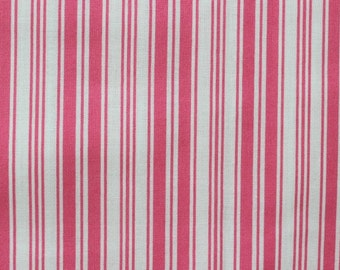 Ava Rose Collection Pink Ticking Stripes Fabric by Tanya Whelan TW03