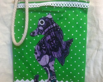 Cross Body Seahorse Mini Bag