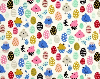 Little Chick in Natural Alexander Henry Fabric, Choose your cut