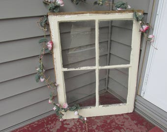 Old Wood Window with 4 Panes