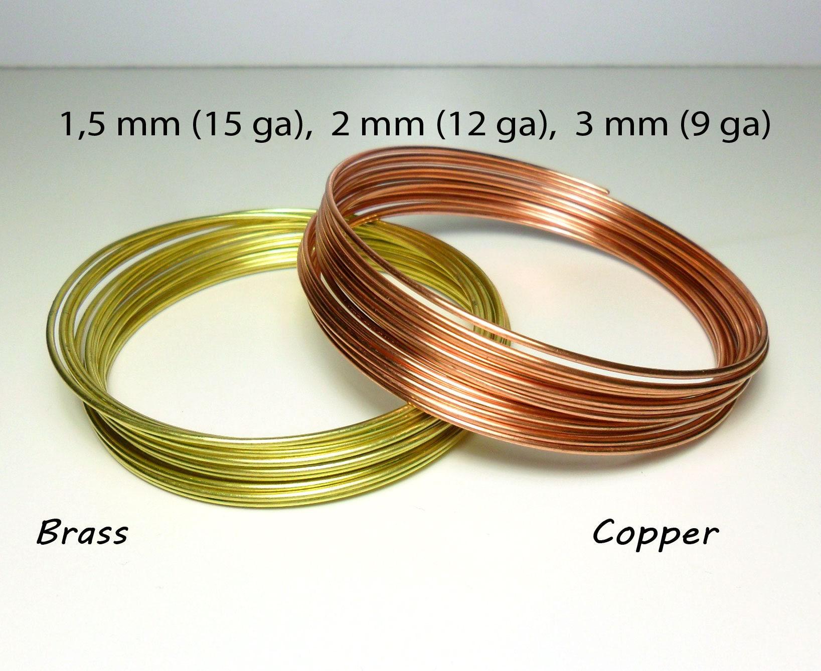 Weiche Runde Kupferdraht Messing Draht 15 mm / 15 gauge 2 mm