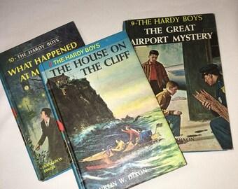 Hardy Boys, Hardy Boys Mystery Stories, Hard Back Books, 1960's Hardy Boys Books, Author FW Dixon