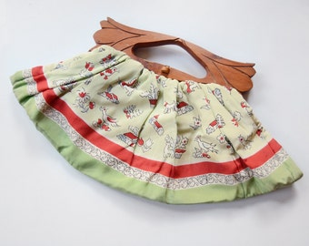 1940s/1950s Scarf Purse with Dogs and Birds