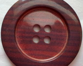 SEE SHOP ANNOUNCEMENT for 60% off code - Rust Colored Jumbo Buttons - 2 inch X 1