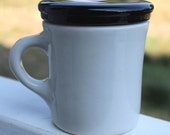 Deep Purple Plum Mugcover Cup Lid Eco Friendly Gift For Tea Lovers