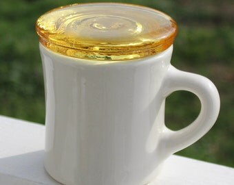 Useful Kitchen Gift Lemon Yellow Eco friendly Coffee Gift Tea Cup Lid