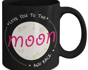 Love You To The Moon And Back Couple Relationship Coffee Mug