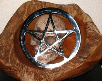Pentacle Altar tile~Chrome~Large~Ritual Supply