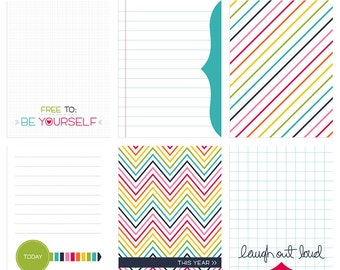 Live Free : Love Life 1 Digital Journal Cards - 3x4 4x6 project life pocket scrapbooking journaling note cards  - instant download - CU OK