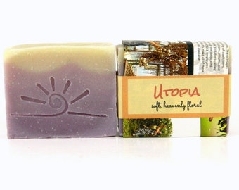 Artisan Soap Bar / Cold Process Soap / Bath and Body Soap UTOPIA