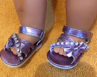 Purple doll sandals