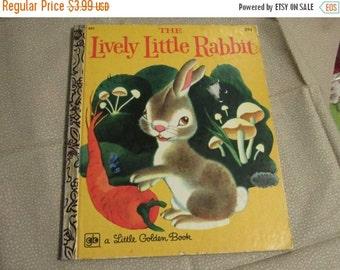 SALE- Little Golden Book-The Lively Rabbit, 1973