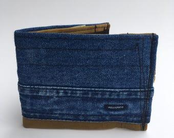 Bifold wallet, recycled wallet, men's wallets, handmade wallet