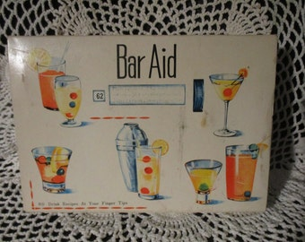 80  Mix Drinks Recipes Vintage Tin Roll Bar  In Original Box