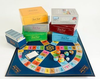 Vintage 1980s Board Game Set / Ultimate Trivial Pursuit Game Set - Master Game Genus Edition and 6 Subsidiary Card Sets in Box