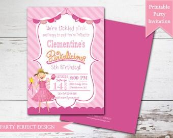 PInkalicious Photo Birthday Invitation - Pinkalicious Birthday - Pinkalicious Party with optional thank you card - Print Your Own