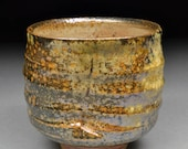 RESERVED For Scott Amazing Smaller Handmade Stoneware Yunomi Tea Cup Glazed with Shino, Wood Ash, Copper and Rutile