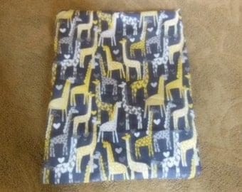 Waterproof Bag/ Wet Bag , Sport Bag, Diaper Bag, Accessory Bag, Travel Bag,  Michael Miller Giraffe Love