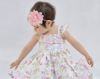 Girls Spring Dress - Baby Girl Dress - Girl Easter Dress - Toddler Girl Dress - Girl Twirl Dress - Baby Birthday Dress - Flower Girl Dress