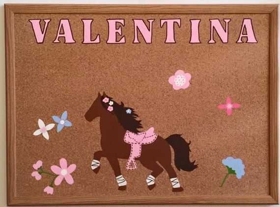 Pretty horse and flower bulletin board personalized for Pretty bulletin board