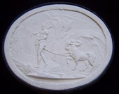 Antique Grand Tour Cameo Plasters From the 1800's With Hercules and the Hydra
