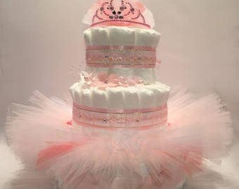 Ballerina Tutu Diaper Cake - Choice of Colors - Great gift or centerpiece for Baby Shower